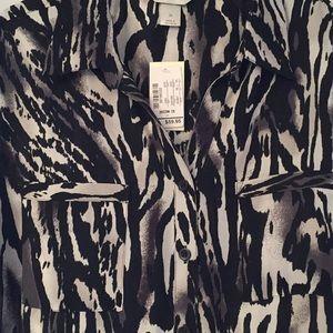 CJ Banks Tops - Cj Banks, black and white Tunic blouse